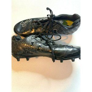 Under armour nitro black and gray cleats size 11